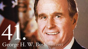 President George H.W. Bush led America from 1989-1993.